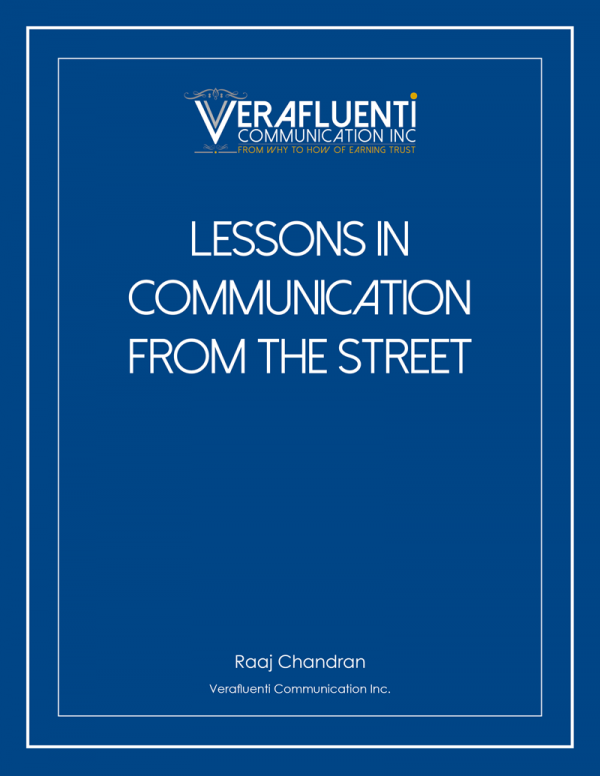 Lessons in communication from the street